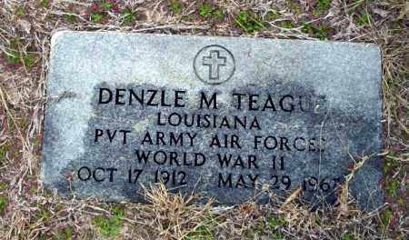 TEAGUE (VETERAN WWII), DENZLE M - Ouachita County, Arkansas | DENZLE M TEAGUE (VETERAN WWII) - Arkansas Gravestone Photos