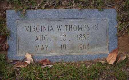 THOMPSON, VIRGINIA W - Ouachita County, Arkansas | VIRGINIA W THOMPSON - Arkansas Gravestone Photos
