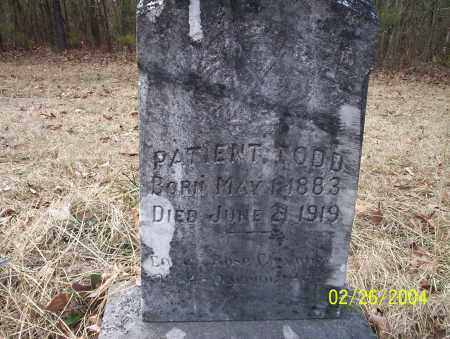TODD, PATIENT - Ouachita County, Arkansas | PATIENT TODD - Arkansas Gravestone Photos
