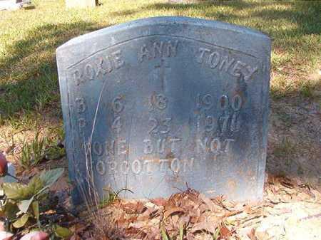 TONEY, ROXIE ANN - Ouachita County, Arkansas   ROXIE ANN TONEY - Arkansas Gravestone Photos
