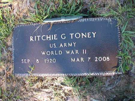 TONEY (VETERAN WWII), RITCHIE G - Ouachita County, Arkansas | RITCHIE G TONEY (VETERAN WWII) - Arkansas Gravestone Photos