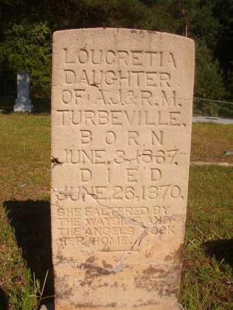 TURVBEVILLE, LOUCRETIA - Ouachita County, Arkansas | LOUCRETIA TURVBEVILLE - Arkansas Gravestone Photos