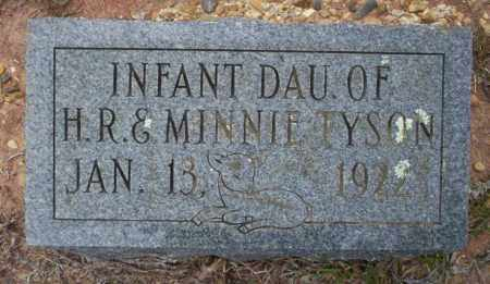 TYSON, INFANT DAUGHTER - Ouachita County, Arkansas | INFANT DAUGHTER TYSON - Arkansas Gravestone Photos