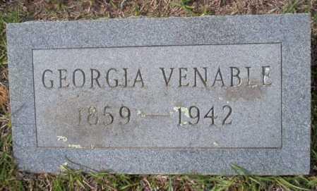 VENABLE, GEORGIA - Ouachita County, Arkansas   GEORGIA VENABLE - Arkansas Gravestone Photos
