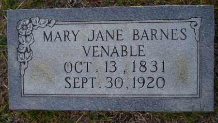 BARNES VENABLE, MARY JANE - Ouachita County, Arkansas | MARY JANE BARNES VENABLE - Arkansas Gravestone Photos