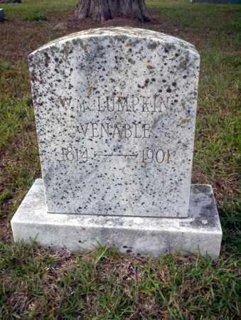 VENABLE, WM LUMPKIN - Ouachita County, Arkansas   WM LUMPKIN VENABLE - Arkansas Gravestone Photos