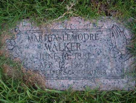 LEMOORE WALKER, MARTHA - Ouachita County, Arkansas | MARTHA LEMOORE WALKER - Arkansas Gravestone Photos