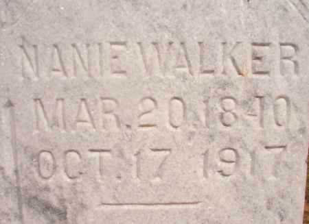 WALKER, NANIE - Ouachita County, Arkansas | NANIE WALKER - Arkansas Gravestone Photos
