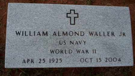 WALLER, JR (VETERAN WWII), WILLIAM ALMOND - Ouachita County, Arkansas | WILLIAM ALMOND WALLER, JR (VETERAN WWII) - Arkansas Gravestone Photos