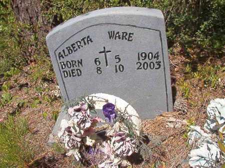 WARE, ALBERTA - Ouachita County, Arkansas | ALBERTA WARE - Arkansas Gravestone Photos