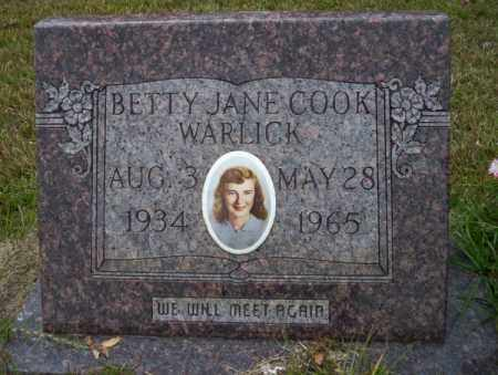 WARLICK, BETTY JANE - Ouachita County, Arkansas | BETTY JANE WARLICK - Arkansas Gravestone Photos