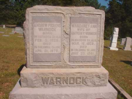 WARNOCK, ANDREW PICKENS - Ouachita County, Arkansas | ANDREW PICKENS WARNOCK - Arkansas Gravestone Photos