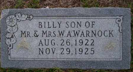 WARNOCK, BILLY - Ouachita County, Arkansas | BILLY WARNOCK - Arkansas Gravestone Photos