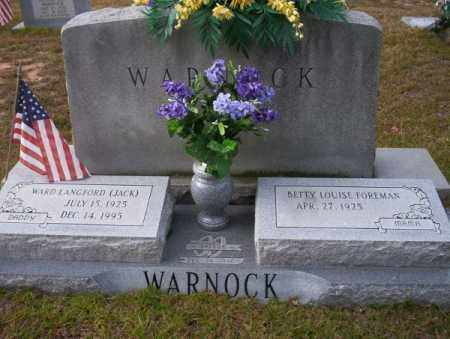 "WARNOCK, WARD LANGFORD "" JACK"" - Ouachita County, Arkansas 