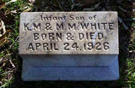 WHITE, INFANT SON - Ouachita County, Arkansas | INFANT SON WHITE - Arkansas Gravestone Photos