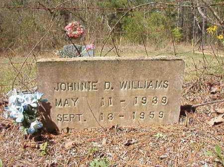 WILLIAMS, JOHNNIE D - Ouachita County, Arkansas | JOHNNIE D WILLIAMS - Arkansas Gravestone Photos