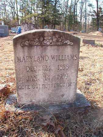 WILLIAMS, MARYLAND - Ouachita County, Arkansas | MARYLAND WILLIAMS - Arkansas Gravestone Photos