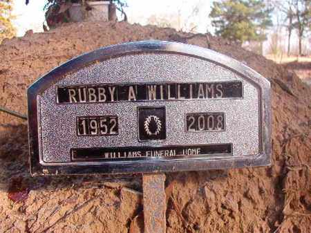 WILLIAMS, RUBBY A - Ouachita County, Arkansas | RUBBY A WILLIAMS - Arkansas Gravestone Photos