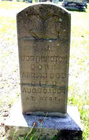 WORTHINGTON, L.J. - Ouachita County, Arkansas | L.J. WORTHINGTON - Arkansas Gravestone Photos