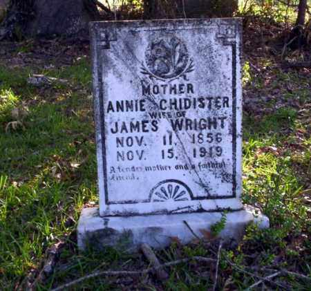 CHIDISTER WRIGHT, ANNIE - Ouachita County, Arkansas | ANNIE CHIDISTER WRIGHT - Arkansas Gravestone Photos