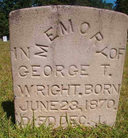 WRIGHT, GEORGE T - Ouachita County, Arkansas | GEORGE T WRIGHT - Arkansas Gravestone Photos