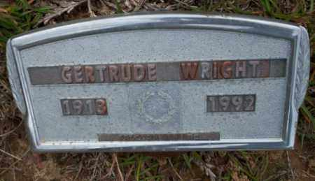 WRIGHT, GERTRUDE - Ouachita County, Arkansas | GERTRUDE WRIGHT - Arkansas Gravestone Photos