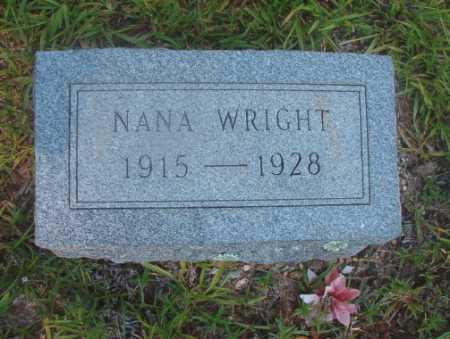 WRIGHT, NANA - Ouachita County, Arkansas | NANA WRIGHT - Arkansas Gravestone Photos