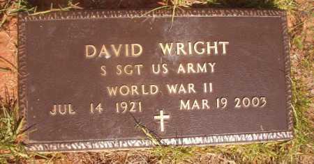 WRIGHT (VETERAN WWII), DAVID - Ouachita County, Arkansas | DAVID WRIGHT (VETERAN WWII) - Arkansas Gravestone Photos