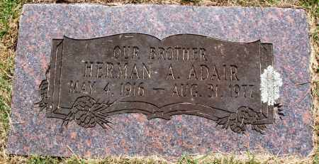 ADAIR, HERMAN A - Perry County, Arkansas | HERMAN A ADAIR - Arkansas Gravestone Photos