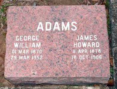 ADAMS, JAMES HOWARD - Perry County, Arkansas | JAMES HOWARD ADAMS - Arkansas Gravestone Photos