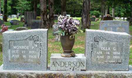 ANDERSON, MONROE P - Perry County, Arkansas | MONROE P ANDERSON - Arkansas Gravestone Photos