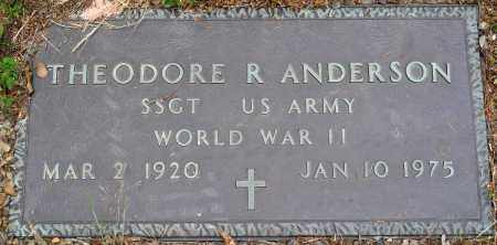 ANDERSON (VETERAN WWII), THEODORE R - Perry County, Arkansas | THEODORE R ANDERSON (VETERAN WWII) - Arkansas Gravestone Photos
