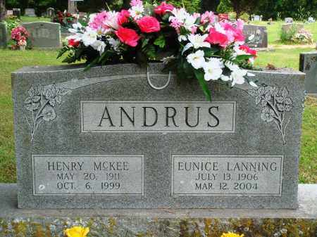 LANNING ANDRUS, EUNICE - Perry County, Arkansas | EUNICE LANNING ANDRUS - Arkansas Gravestone Photos