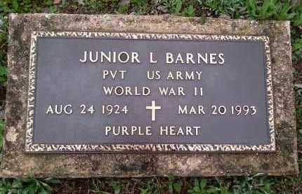BARNES  (VETERAN WWII), JUNIOR L - Perry County, Arkansas | JUNIOR L BARNES  (VETERAN WWII) - Arkansas Gravestone Photos