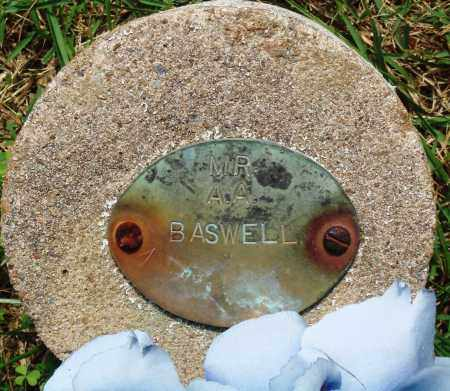 BASWELL, A A - Perry County, Arkansas | A A BASWELL - Arkansas Gravestone Photos