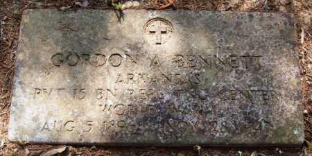BENNETT  (VETERAN WWI), GORDON A - Perry County, Arkansas | GORDON A BENNETT  (VETERAN WWI) - Arkansas Gravestone Photos