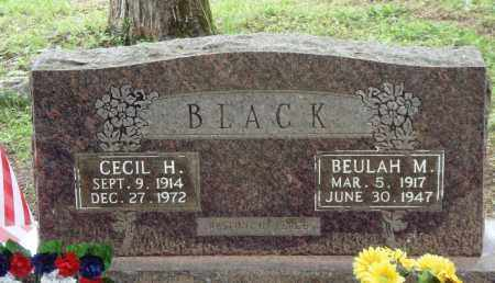 BLACK, CECIL H - Perry County, Arkansas | CECIL H BLACK - Arkansas Gravestone Photos