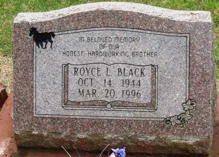 BLACK, ROYCE L - Perry County, Arkansas | ROYCE L BLACK - Arkansas Gravestone Photos