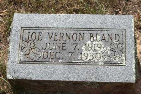 BLAND, JOE VERNON - Perry County, Arkansas | JOE VERNON BLAND - Arkansas Gravestone Photos