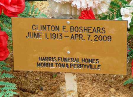 BOSHEARS, CLINTON E - Perry County, Arkansas | CLINTON E BOSHEARS - Arkansas Gravestone Photos