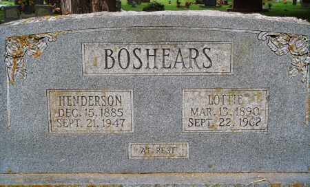 BOSHEARS, HENDERSON - Perry County, Arkansas | HENDERSON BOSHEARS - Arkansas Gravestone Photos