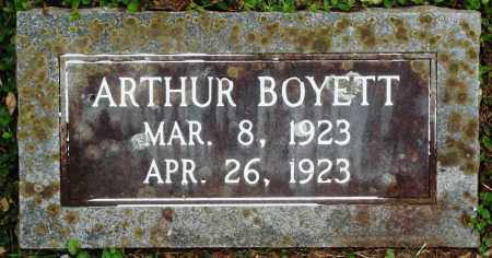 BOYETT, ARTHUR - Perry County, Arkansas | ARTHUR BOYETT - Arkansas Gravestone Photos