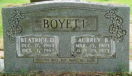 BOYETT, AUBREY B - Perry County, Arkansas | AUBREY B BOYETT - Arkansas Gravestone Photos