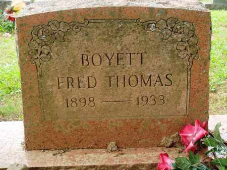 BOYETT, FRED THOMAS - Perry County, Arkansas | FRED THOMAS BOYETT - Arkansas Gravestone Photos