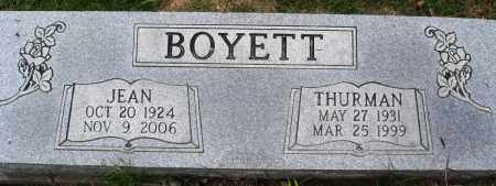 BOYETT, THURMAN - Perry County, Arkansas | THURMAN BOYETT - Arkansas Gravestone Photos