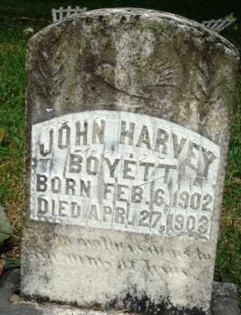 BOYETT, JOHN HARVEY - Perry County, Arkansas | JOHN HARVEY BOYETT - Arkansas Gravestone Photos