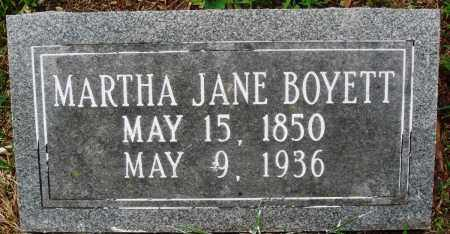 BOYETT, MARTHA JANE - Perry County, Arkansas | MARTHA JANE BOYETT - Arkansas Gravestone Photos