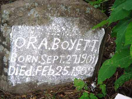 BOYETT, ORA - Perry County, Arkansas | ORA BOYETT - Arkansas Gravestone Photos