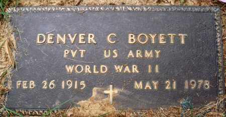 BOYETT (VETERAN WWII), DENVER C - Perry County, Arkansas | DENVER C BOYETT (VETERAN WWII) - Arkansas Gravestone Photos