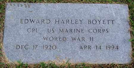 BOYETT (VETERAN WWII), EDWARD HARLEY - Perry County, Arkansas | EDWARD HARLEY BOYETT (VETERAN WWII) - Arkansas Gravestone Photos